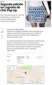 Chic Pop Up en Logroño